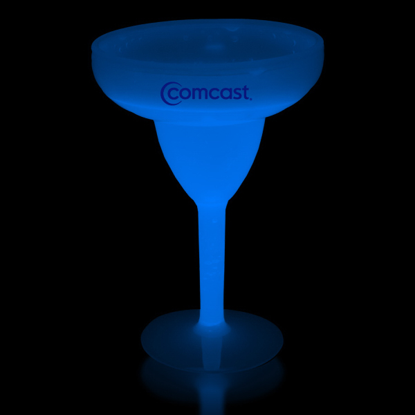 Personalized Blue 10 oz. Glow Margarita Glass