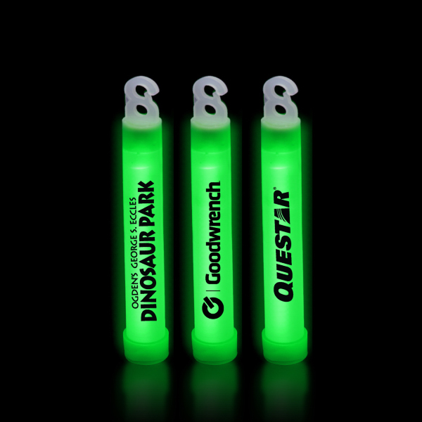 "Imprinted Green 4"" Premium Glow Stick"