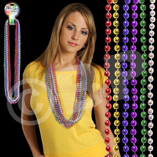 "Imprinted Multi Bead 7 MM 33"" Necklace"