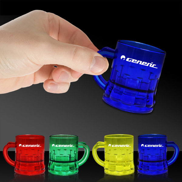 Imprinted 1 oz Mug Shaped Mini Shot Glass