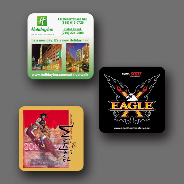 "Imprinted NEW! Vynex® DuraTec® 3.6""x3.6""x1/16"" Coaster"