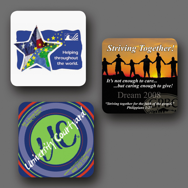 "Personalized NEW! Vynex® DuraTec® 4""x4""x1/16"" Coaster"