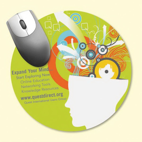 "Promotional NEW! Vynex® DuraTec® 8""Roundx1/16"" Mouse Pad"