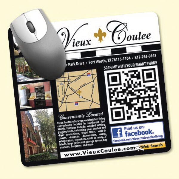 """Personalized NEW! Vynex® DuraTec® 7.5""""x8""""x1/8"""" Mouse Pad"""