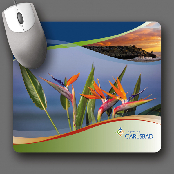 "Imprinted NEW! Vynex® DuraTec® 7.5""x8.5""x1/8"" Mouse Pad"