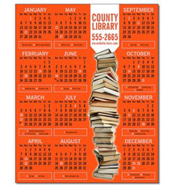 """Promotional Magnet - 5"""" x 6.25"""" Square Corners - 25 mil"""