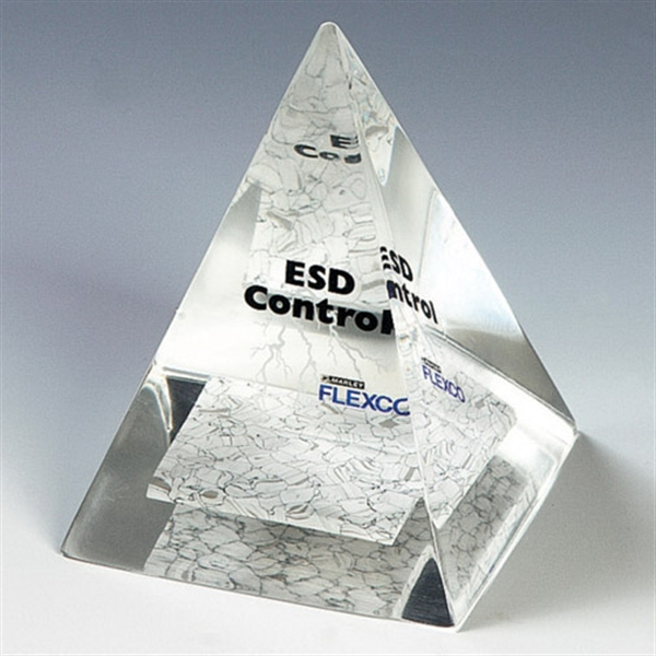 Promotional Genuine Lucite (R) Four Sided Pyramid Embedment
