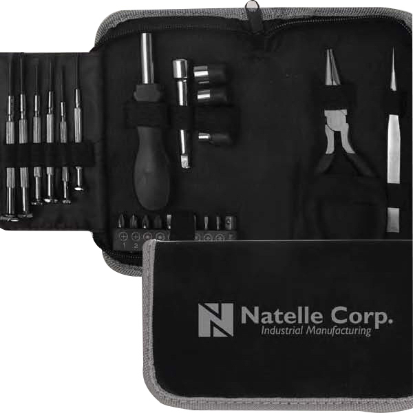Imprinted 24-Piece Tool Kit