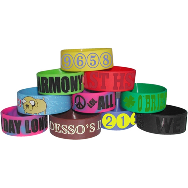 Promotional Big Wide Band Bracelet - Debossed