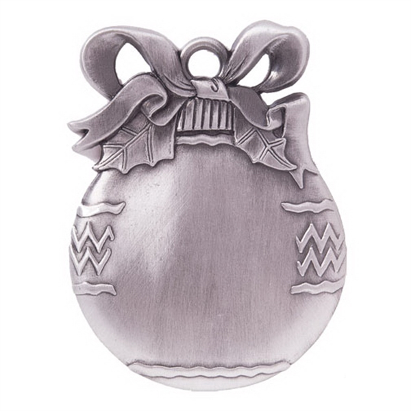 Imprinted Ball Ornament - Cast Relief
