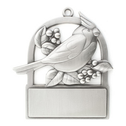 Imprinted Cardinal Ornament - Cast Relief