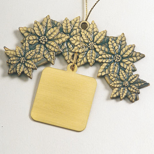 Customized Charm Collection Ornament - Poinsettia