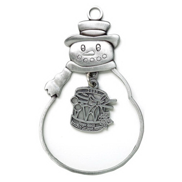 Printed Charm Collection Ornament - Frosty