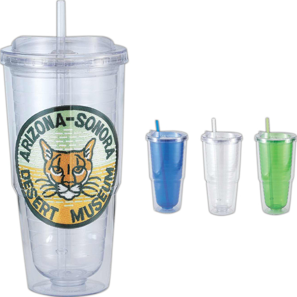 Customized Tornado 24 oz double walled acrylic tumbler