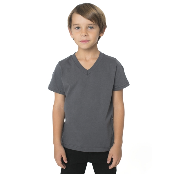 Customized Kids Fine Jersey V-Neck T-Shirt