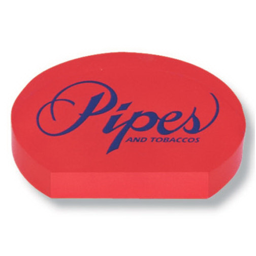 Personalized Screened Flat Bottom Oval Paperweight