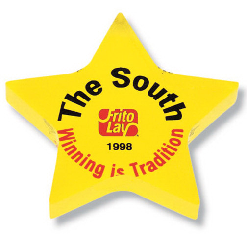Promotional Screened Star Paperweight