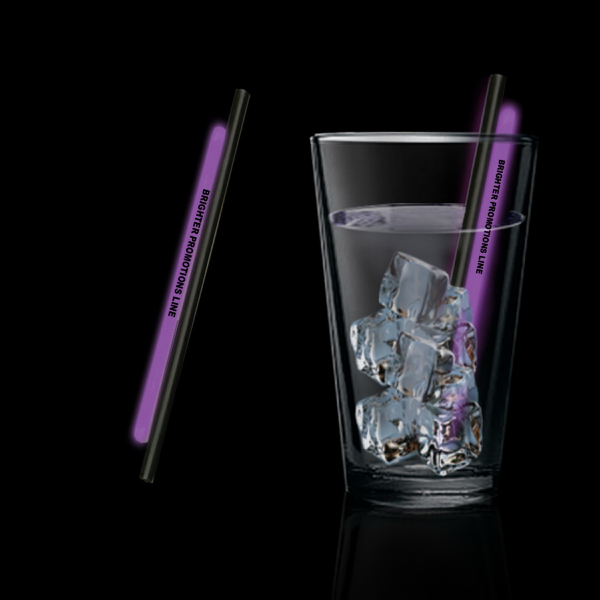 "Promotional Purple 5"" Glow Straw"