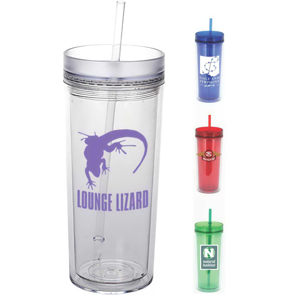 Customized Durango 16 oz Double Wall Acrylic Tumbler with Straw