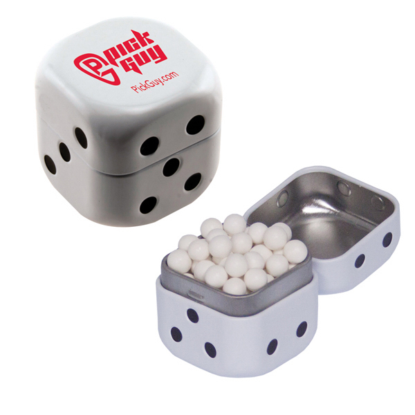 Printed Dice Mint Tin with Signature Peppermints
