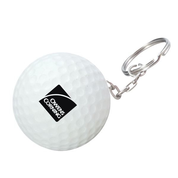 Personalized Golf Ball Stress Reliever Key Chain