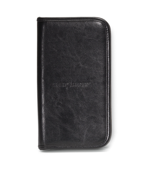 Personalized Safe Travels Leather Document Holder