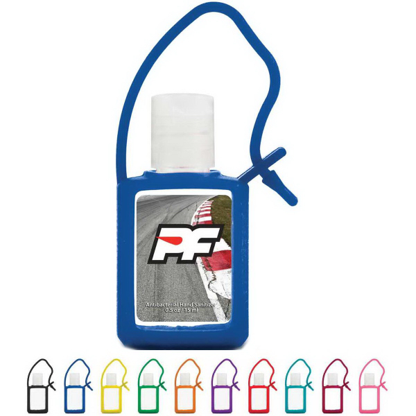 Imprinted 0.5 oz Travel Antibacterial Hand Sanitizer Gel