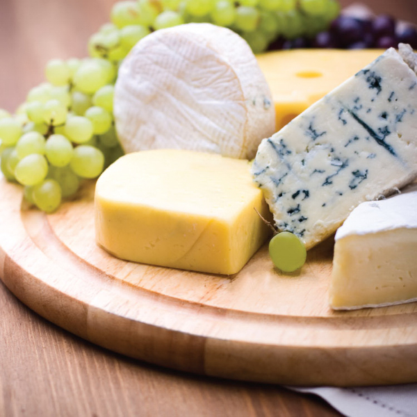 Imprinted Gourmet 5 Piece Cheese Set / Cutting Board
