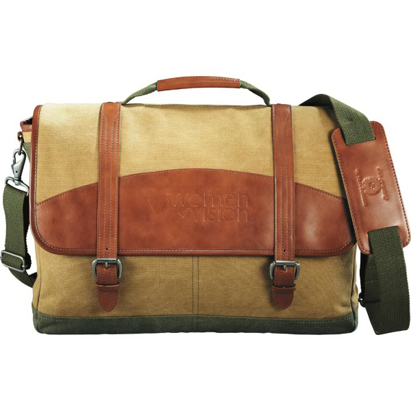 Printed Cutter & Buck (R) Legacy Cotton Compu-Messenger Bag