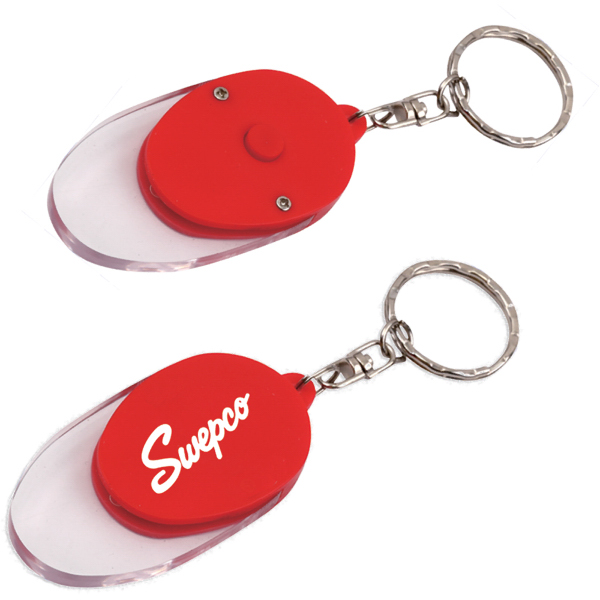 Promotional Light Up Button Key Chain