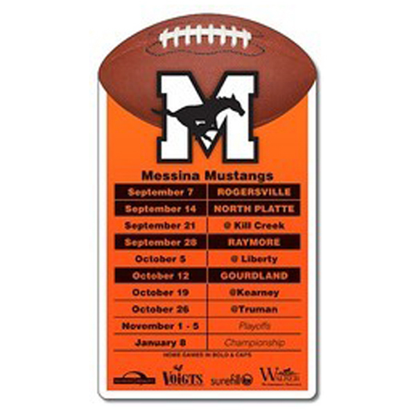 "Printed Magnet-Football Topper Shape Rectangle 3.25"" x 5.75"" -20 mil"