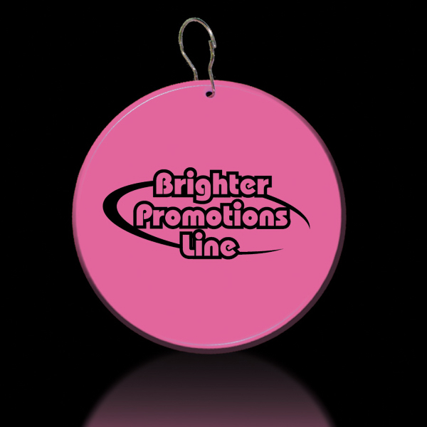 "Promotional Pink 2 1/2"" Medallion Badge"
