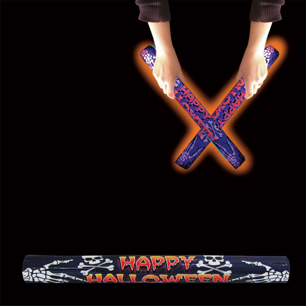 Personalized Happy Halloween Orange LED Lumiton Baton