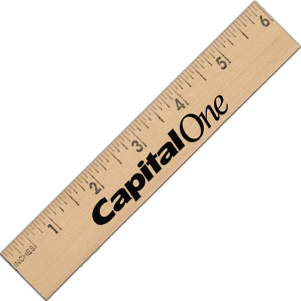 "Custom 6"" Wooden Ruler"