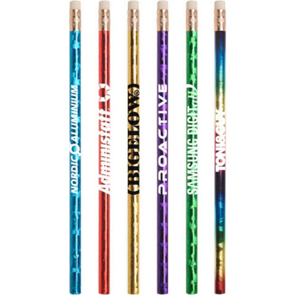 Printed Jo-Bee  Prismatic Foil Wrap Pencil