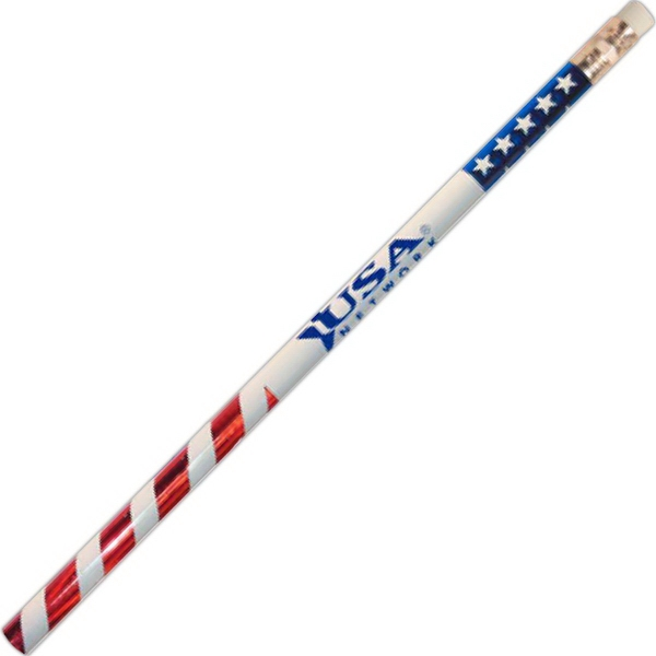 Customized Jo-Bee Patriotic Pencil