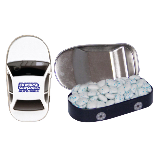 Customized Car Mint Tin with Sugar Free Gum