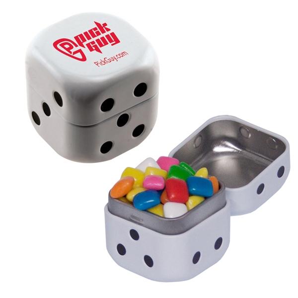 Personalized Dice Mint Tin with Gum