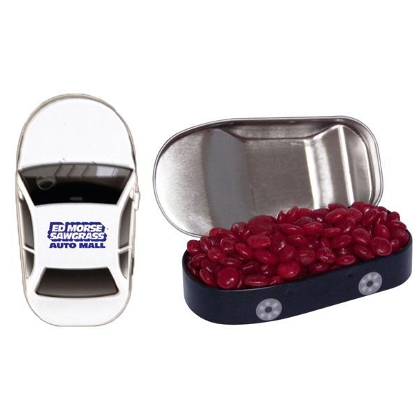 Personalized Car Mint Tin with Cinnamon Red Hots