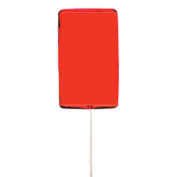 Custom Orange Rectangle Lollipop