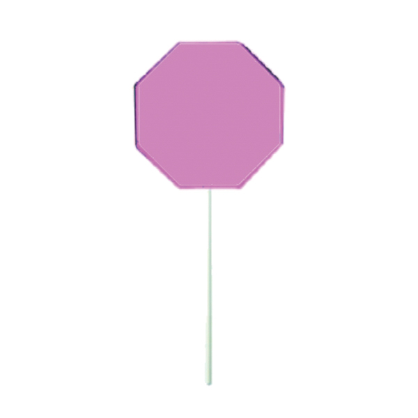 Promotional Pink Octagon Lollipop