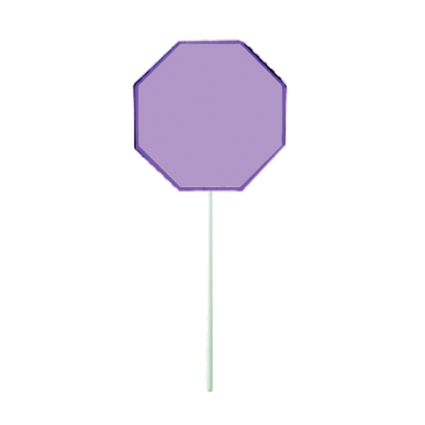 Promotional Purple Octagon Lollipop