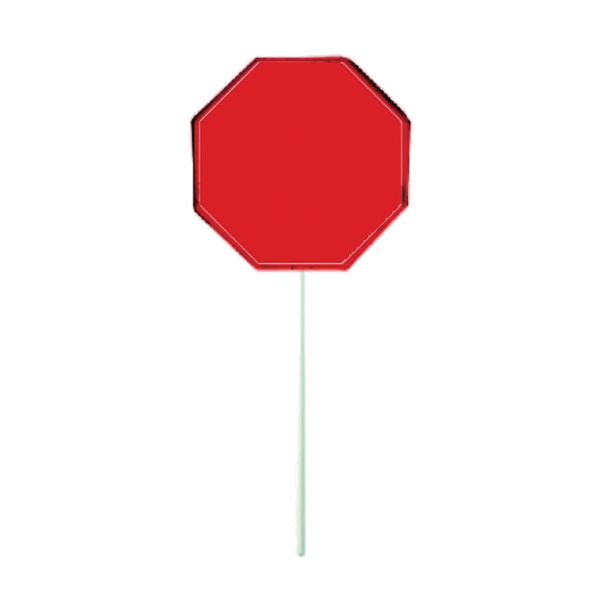 Personalized Red Octagon Lollipop
