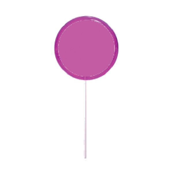 Printed Pink Circle Lollipop