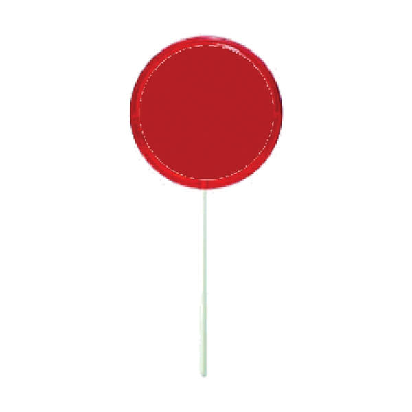 Imprinted Red Circle Lollipop