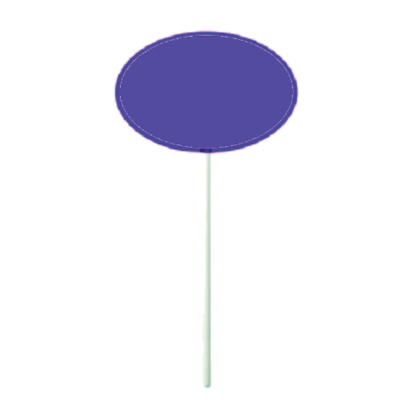Custom Purple Oval Lollipop