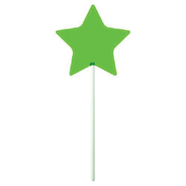 Imprinted Green Star Lollipop