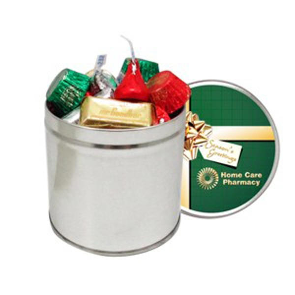 Imprinted Hershey's (R) Holiday Mix / Half Quart Tin