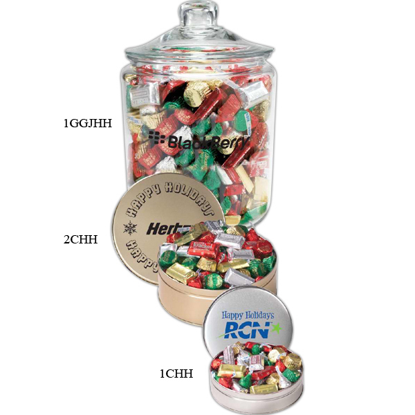 Personalized Hershey's (R) Holiday Mix / Gallon Glass Jar