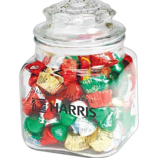 Personalized Classic Glass Apothecary Jar / Lindt (R) Truffles